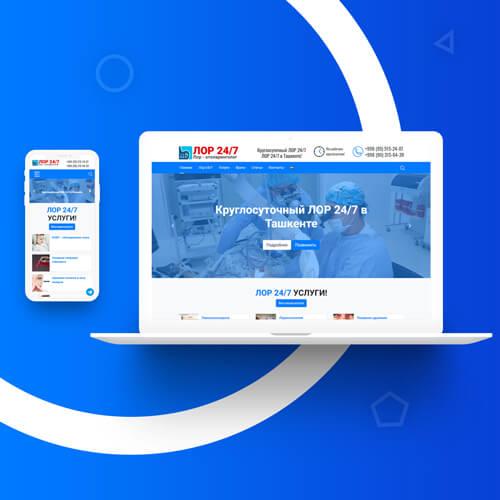 Разработка дизайн сайта и создание сайта в Ташкенте для lor24.uz