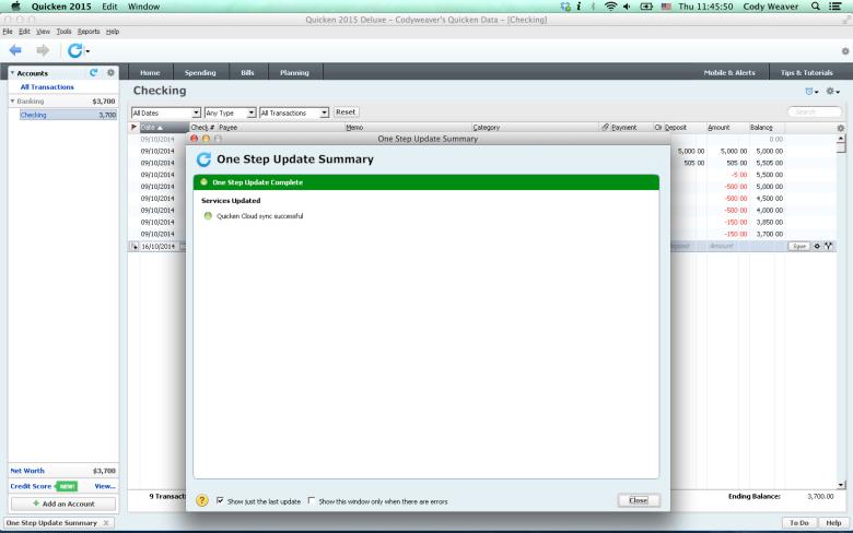 Mac running PC version of Quicken 2015 using Crossover Mac
