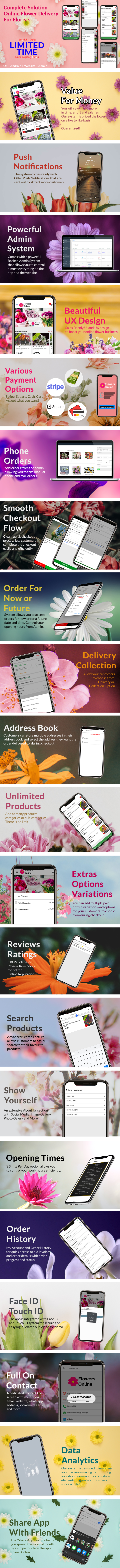 Flowers Florists Floristry Online Bouquet Ordering System (iOs + Android + Onwer App + Web + Admin) - 8