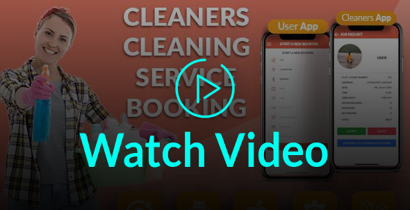 Book Cleaners Online Cleaning Services Search Cleaner Booking System (User App + Cleaner App + Admin - 4