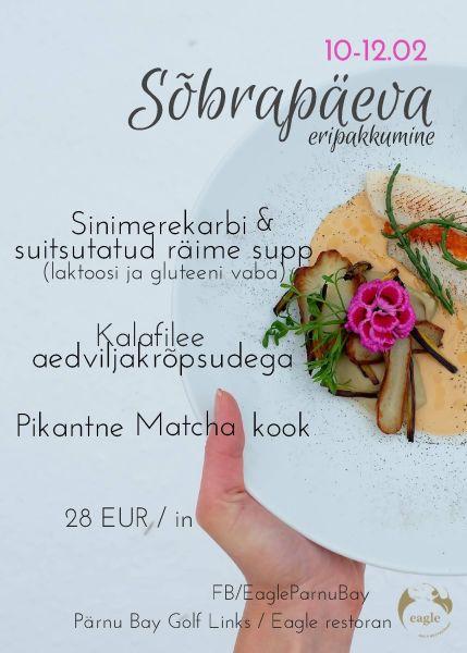 6bbf72fc45f Valentinipäeva eripakkumine restoranis Eagle - Reserveeri laud ...