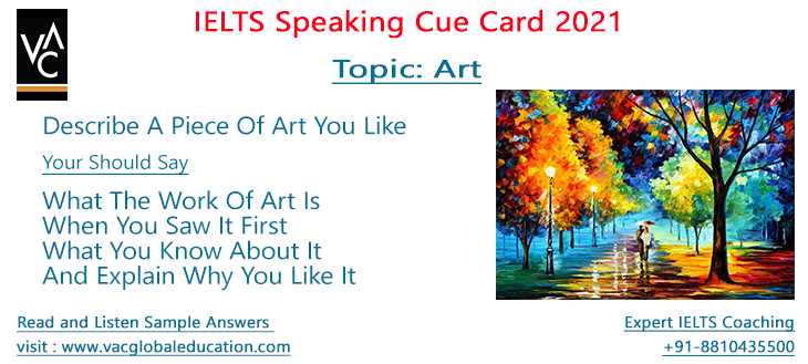 Speaking Cue Card 2021 - Art