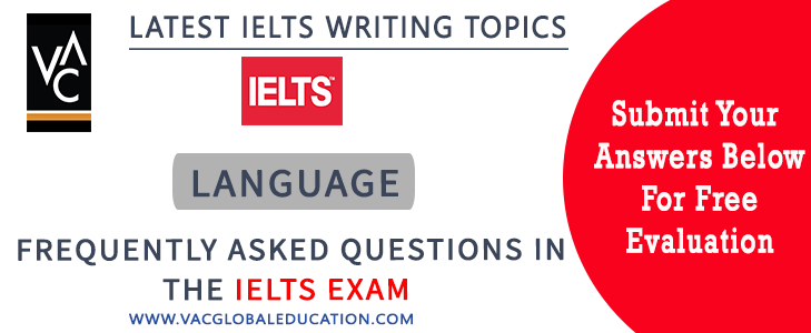 IELTS essay questions for the topic of language
