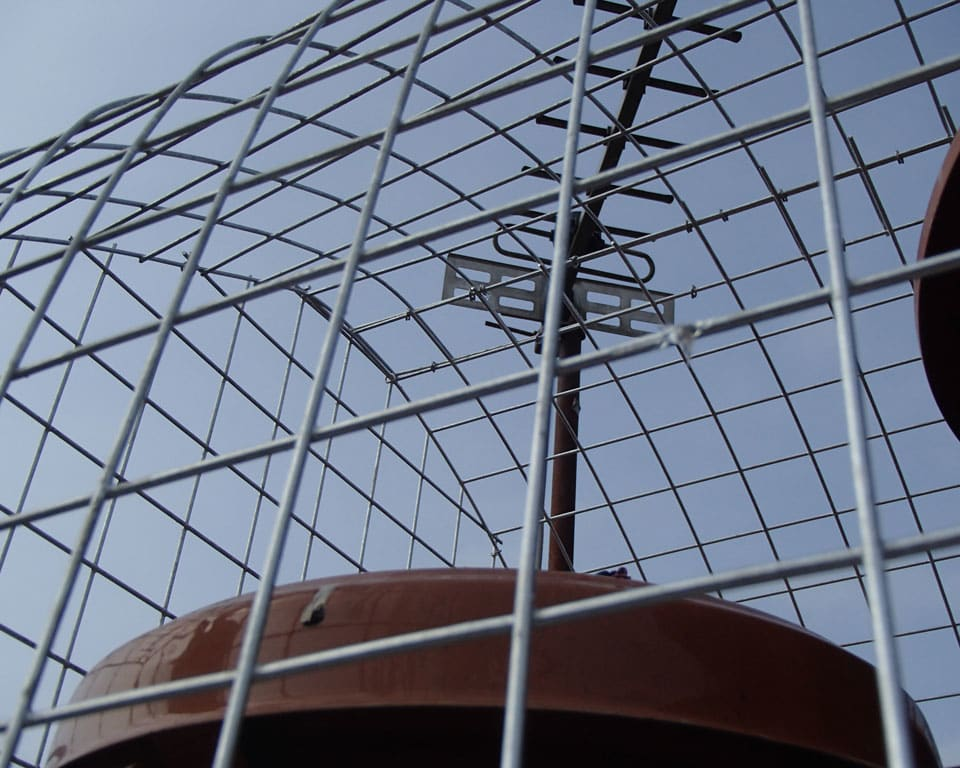 Quality custom gull chimney cage to prevent gulls nesting on a chimney - Cardiff