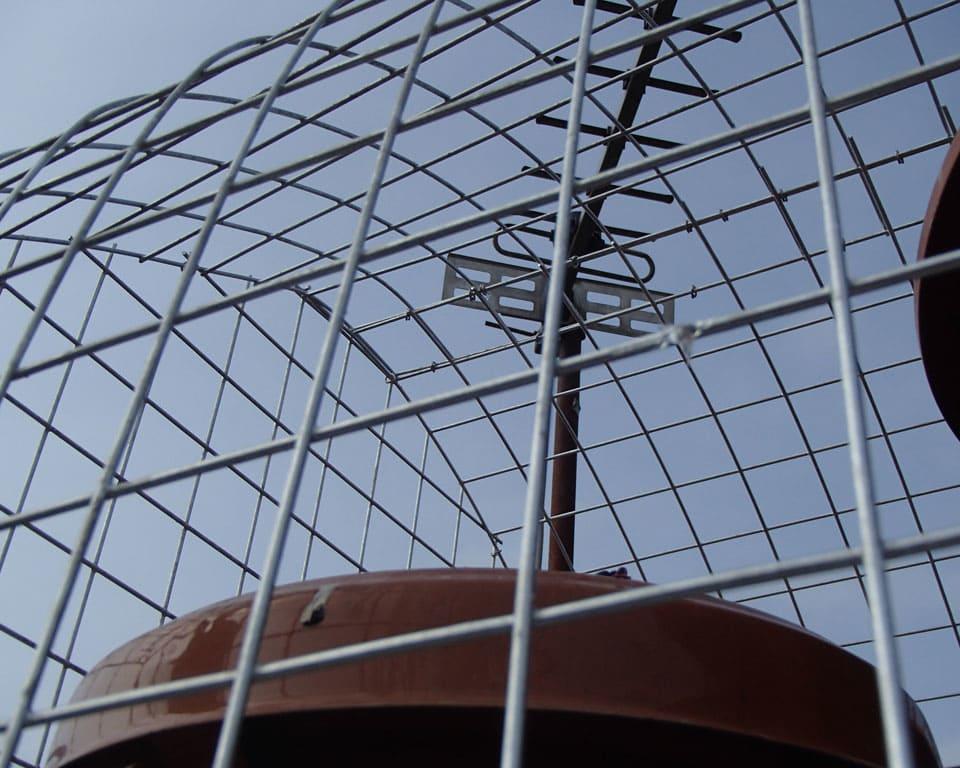 Quality custom gull chimney cage to prevent gulls nesting on a chimney - Cardiff