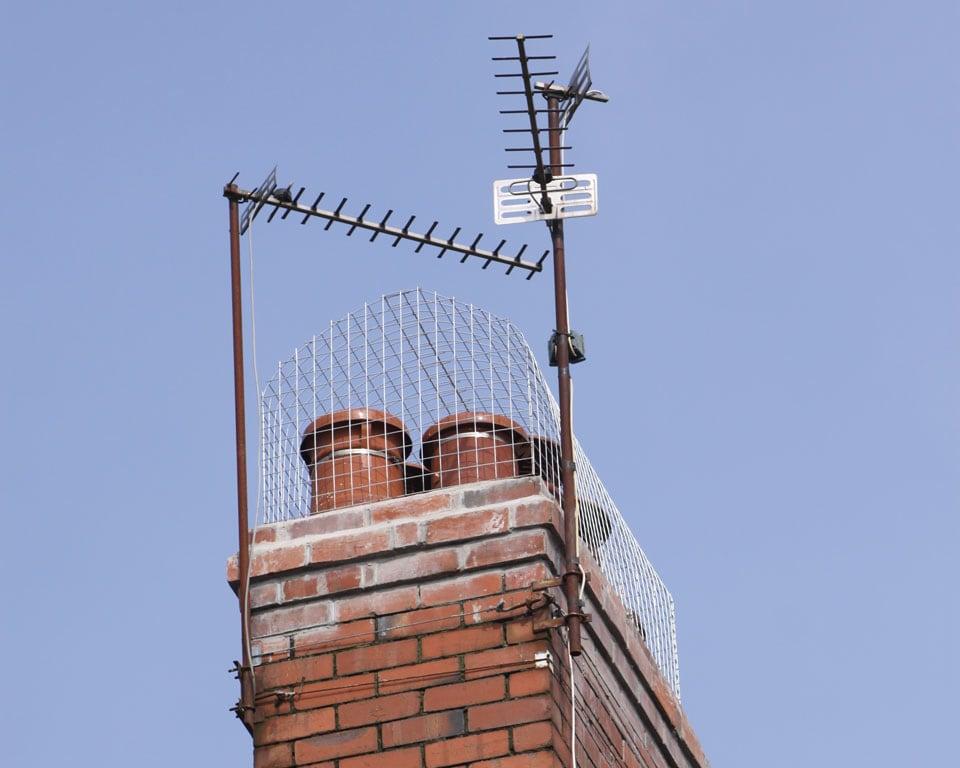 prevent gulls nesting on a chimney using a custom made chimney gull guard in Cardiff