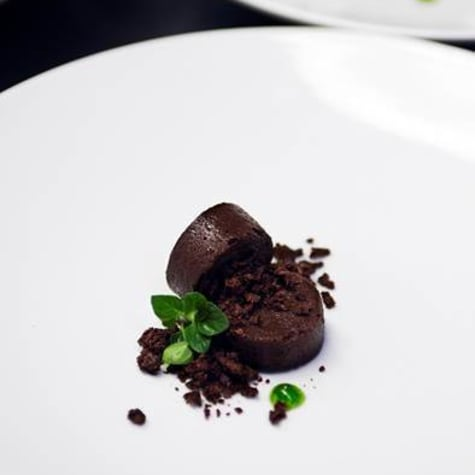 CHOCOLATE CHESS PIE WITH MINT