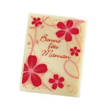 """Rectangle """"Bonne fête Maman"""" fleurs"""