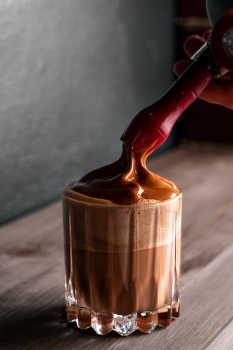 Chocolat chaud praliné noisette