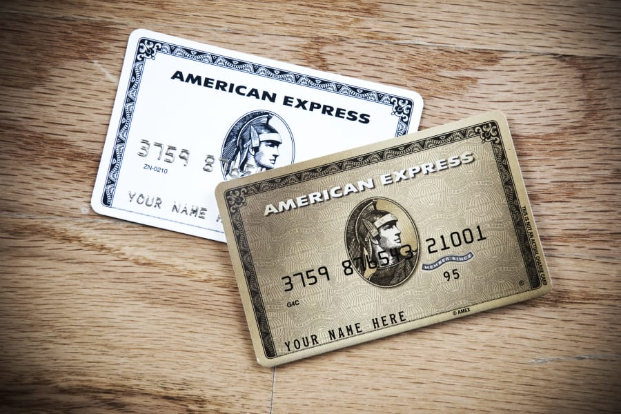 A couple of Amex cards ready for action