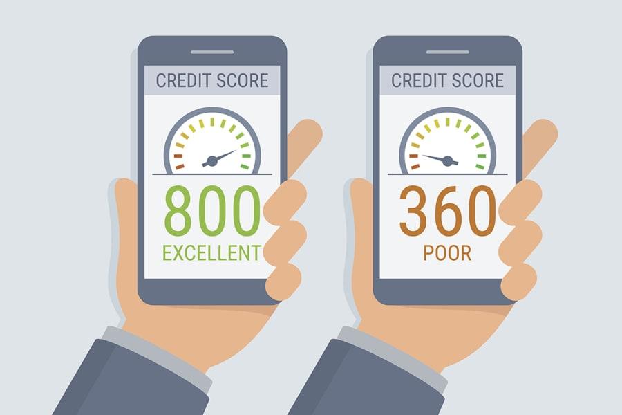 A poor credit score