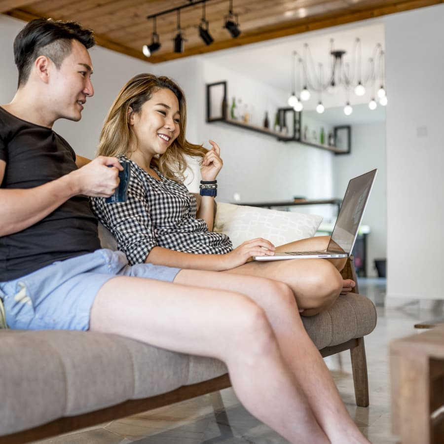 Couple searches for loan online