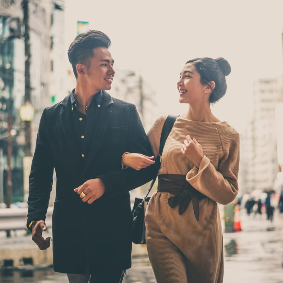 young asian couple