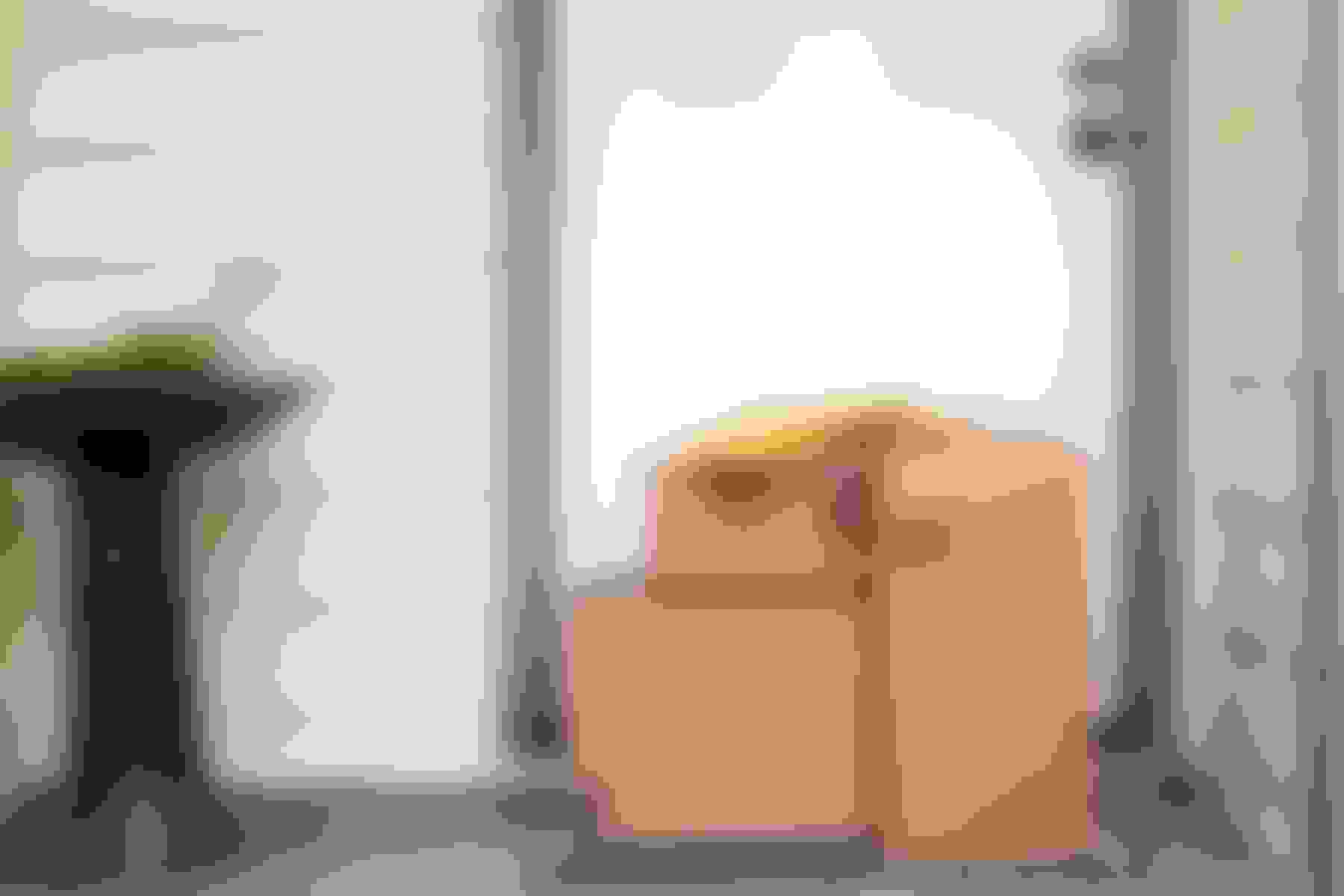 Packages by the front door