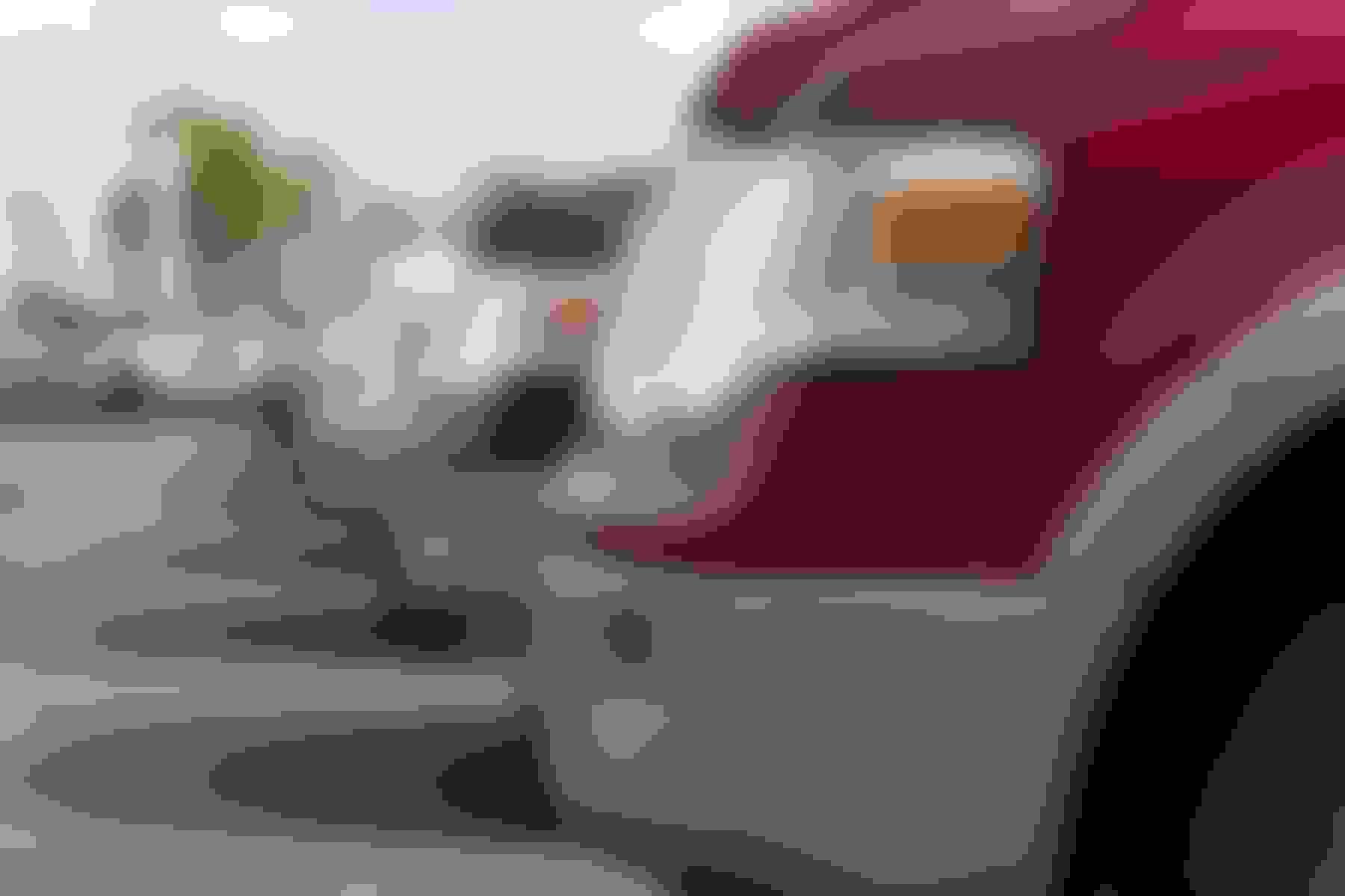 closeup of pick up truck bumpers