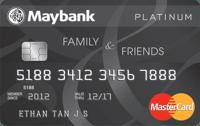 Maybank Family & Friends Platnium MasterCard