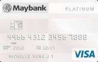 Maybank Platnium Visa card