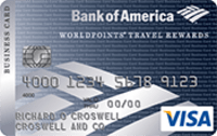 Best bank of america small businesses credit cards 2017 valuepenguin high rewards rate worldpoints travel rewards for business visa card reheart Images