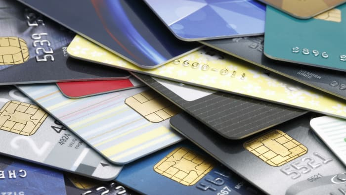 A big pile of credit cards--time for a balance transfer?