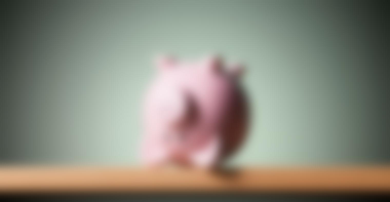 An upside down piggy bank