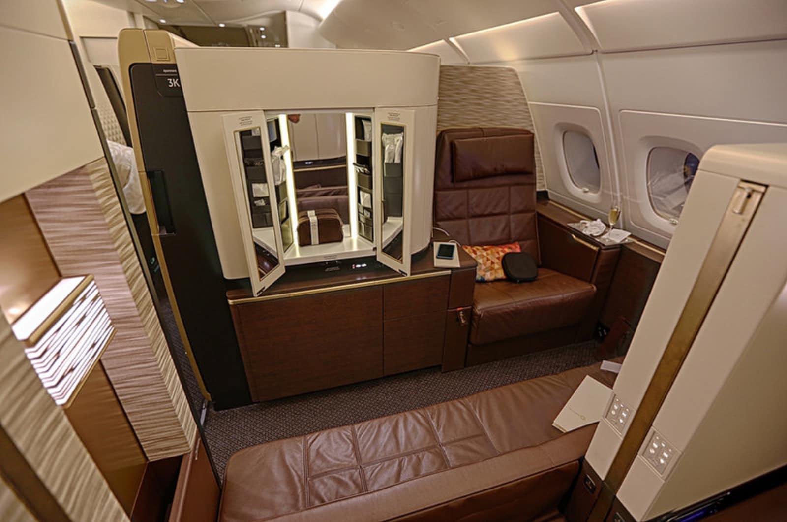 Gillaspia enjoyed his own apartment on the Etihad plane