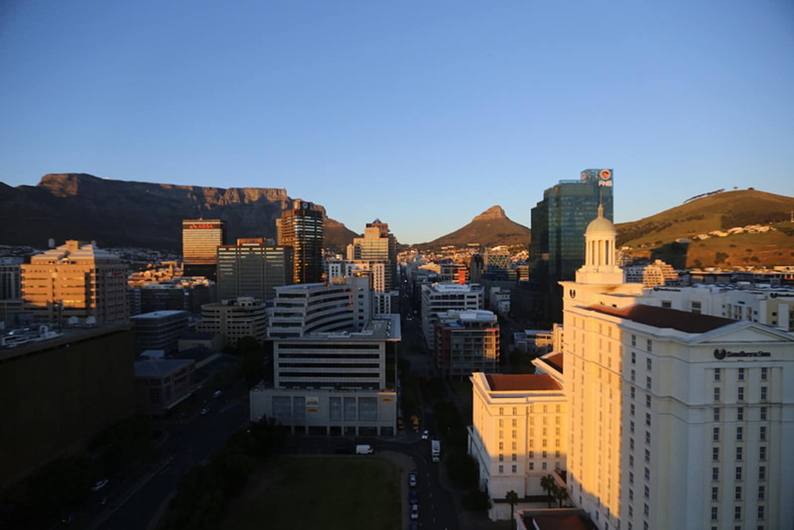 The view of Cape Town from the Westin