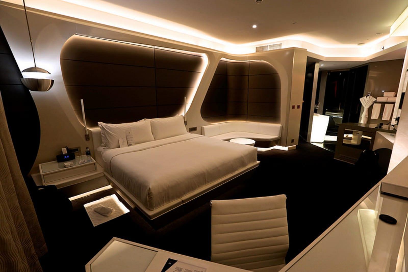 The spacious room at the W Dubai hotel