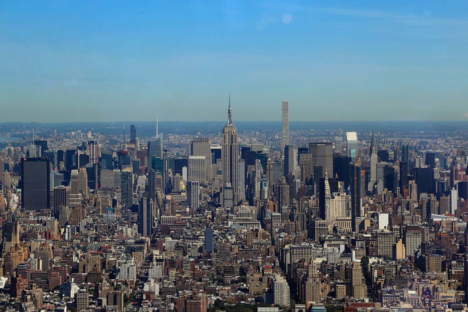 The view from the One World Trade Center Observatory