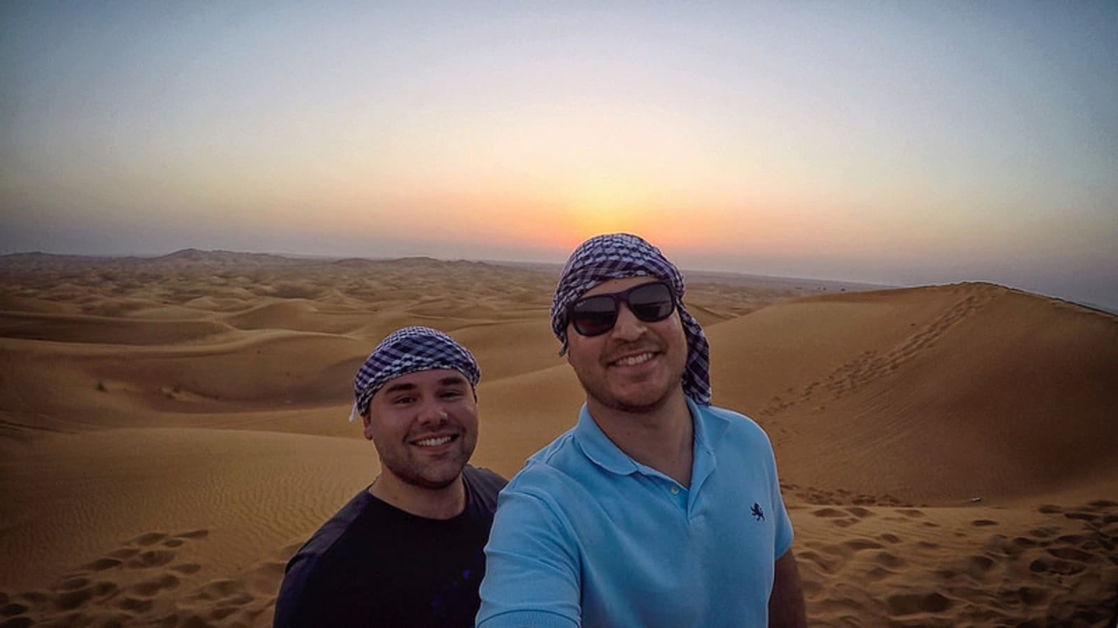 Exploring the sand dunes of Dubai