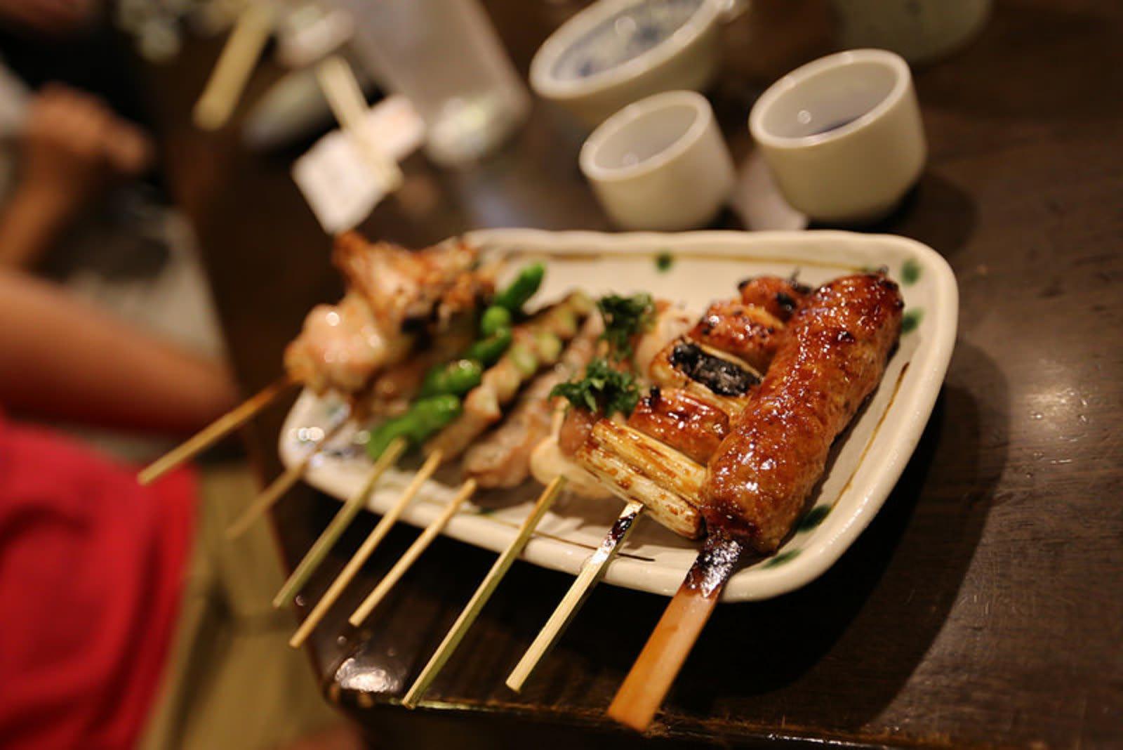 Japanese meat skewers