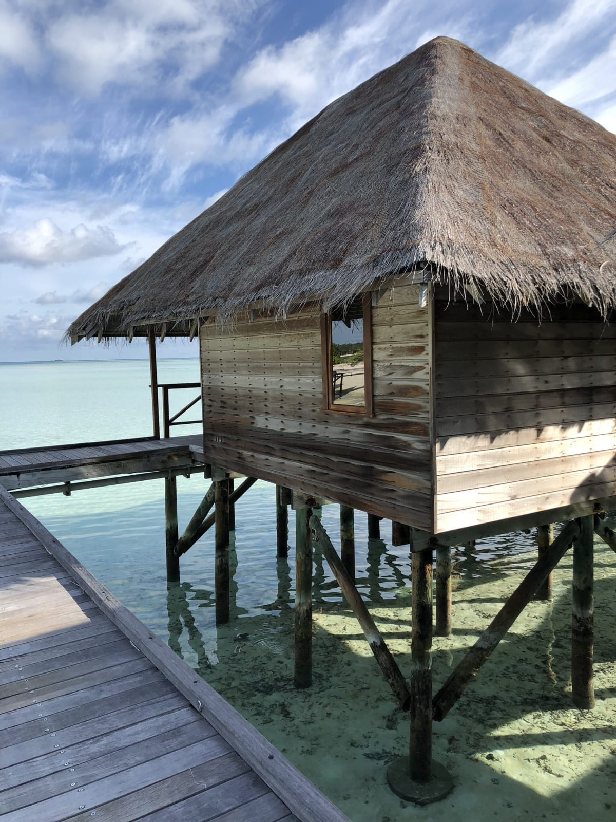 A simple hut on the water
