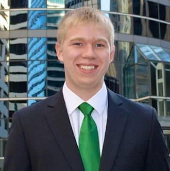 Sam Goerke smiles into the camera