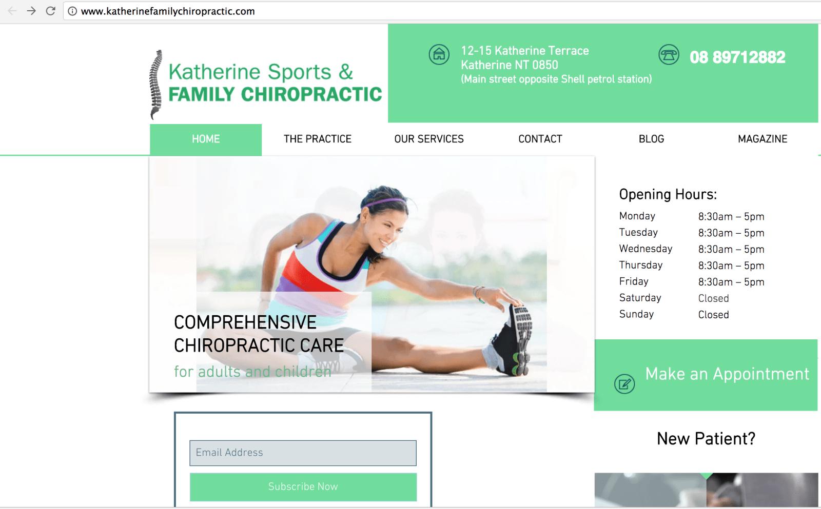 Katherine Chiropractic Wix Example