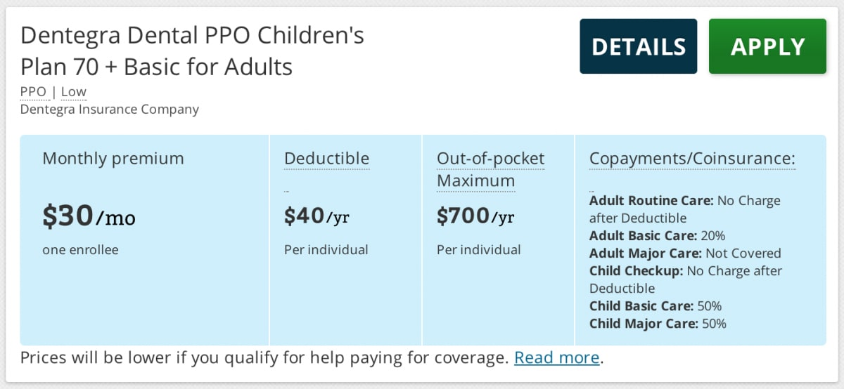 Good adult basics health insurance pity, that