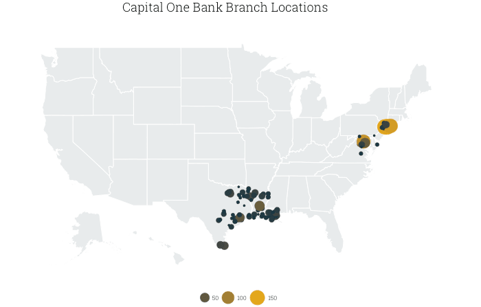 Best Banks For International Travel ValuePenguin - Us bank branch locations map