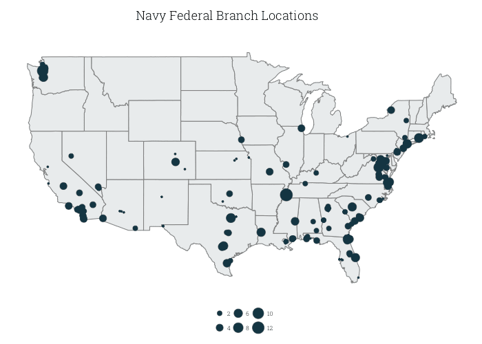 The Best Military Banks And Credit Unions ValuePenguin - Us bank branch locations map