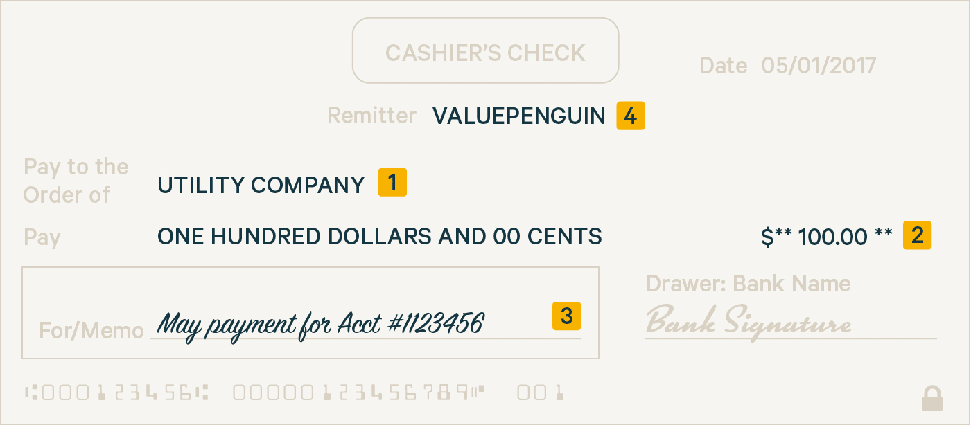 What Is A Cashiers Check Valuepenguin