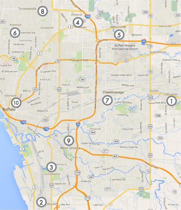 Map of Buffalo