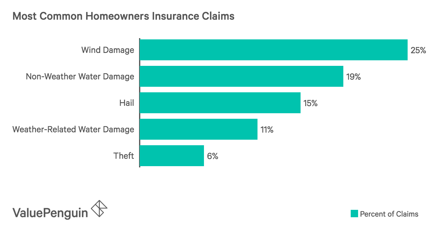 Most Frequent Homeowners Insurance Claims