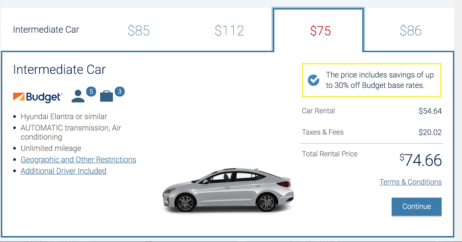 Costco recommended car