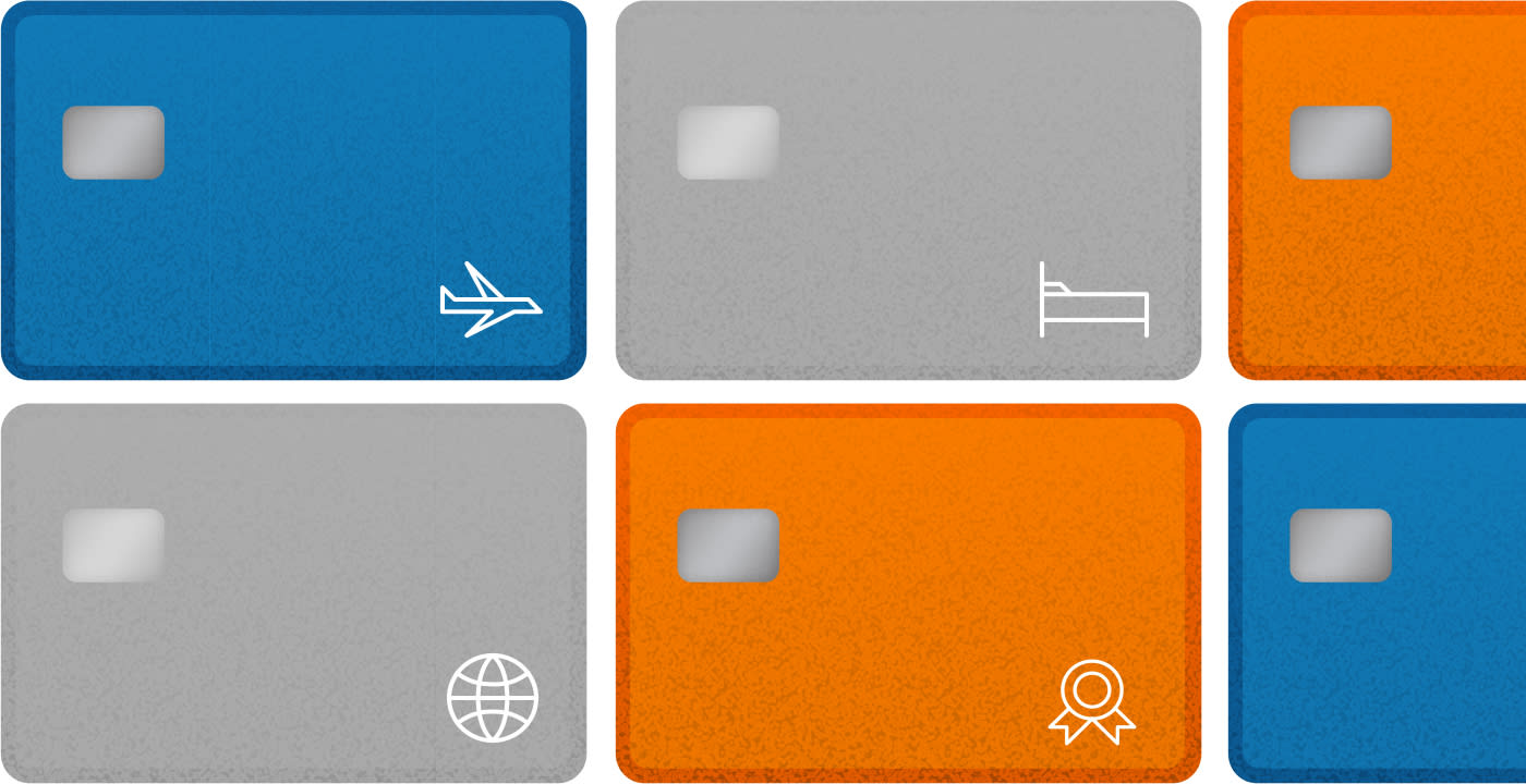 illustration of travel credit cards