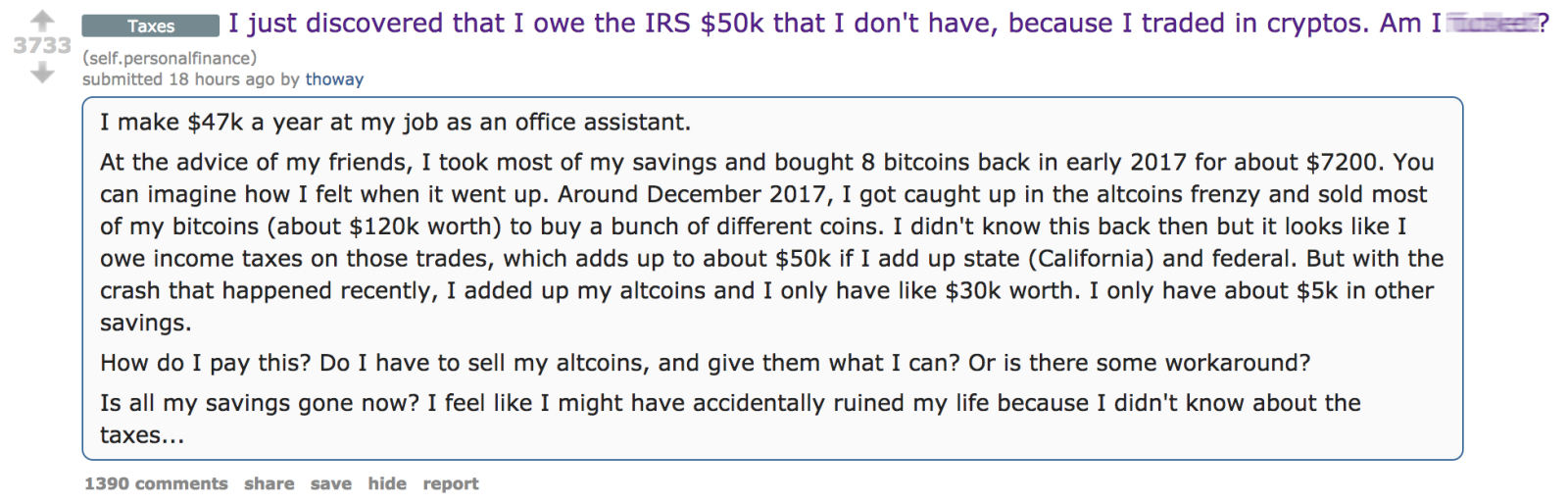 Invested in Bitcoin? You May Owe the IRS Money You Don't Have