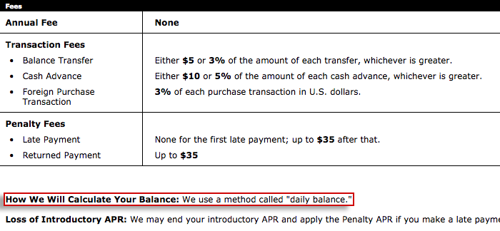 credit card balance interest calculator