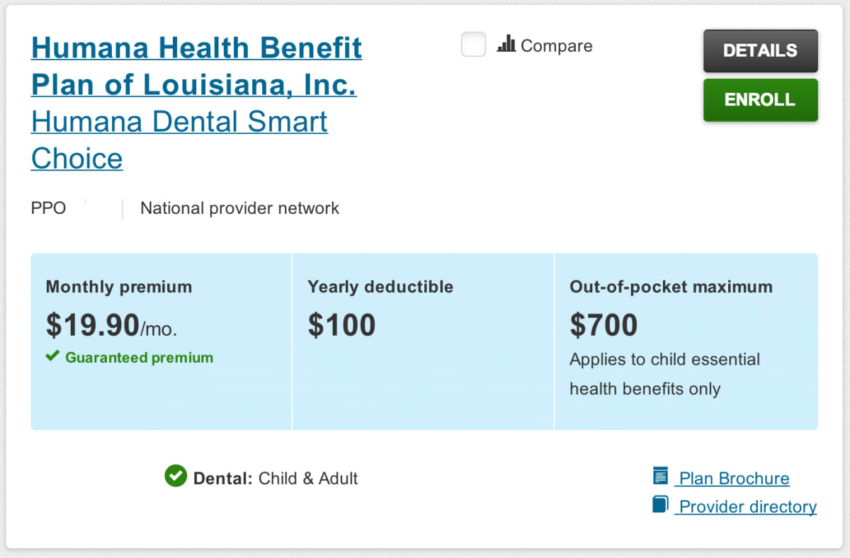 Enroll Dental Plan Summary