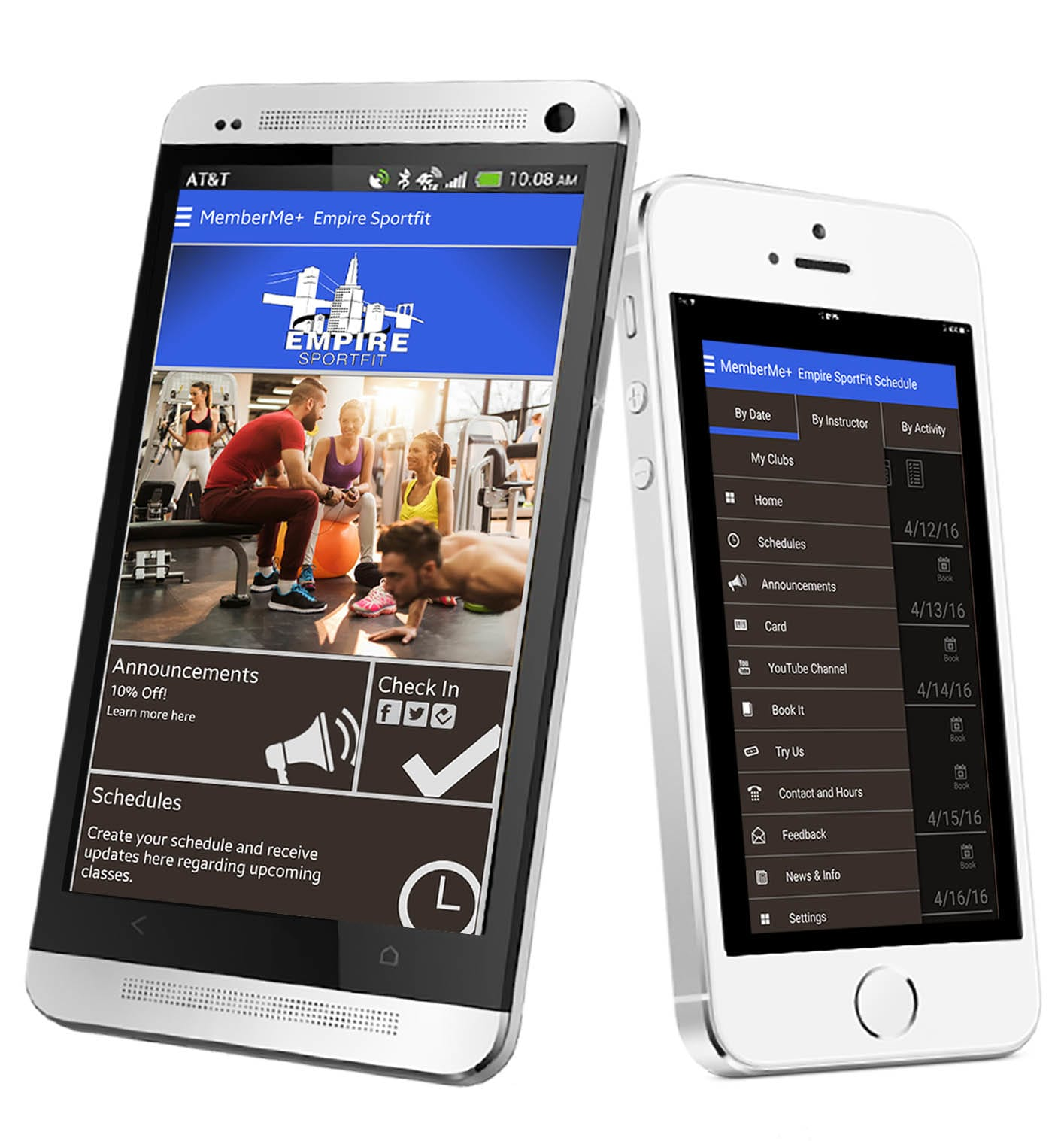 EZFacility mobile app for members