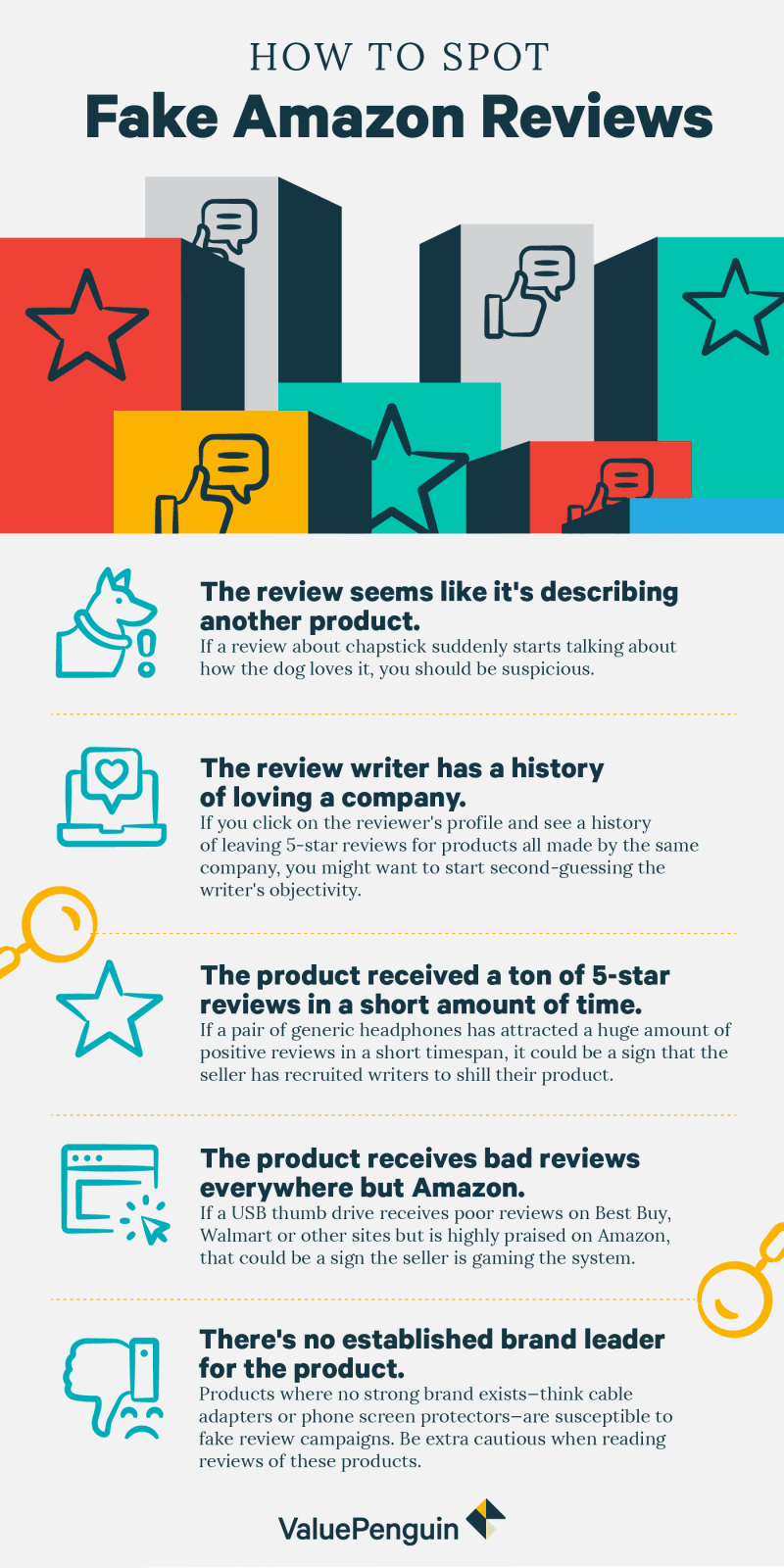 A checklist of what to look for in a review