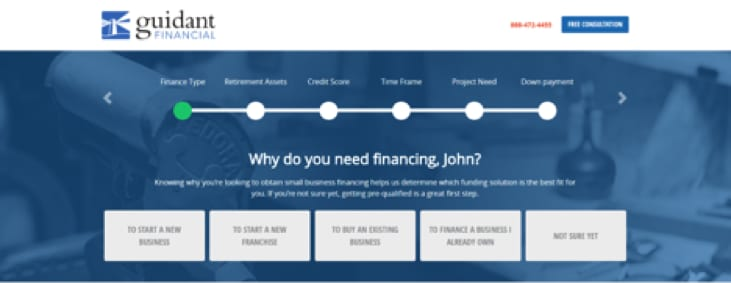Guidant Financial Application Process