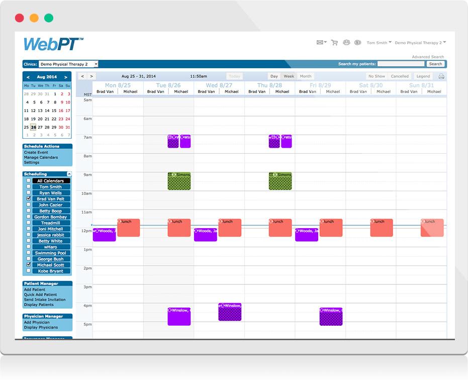 WebPT Integrated Scheduler