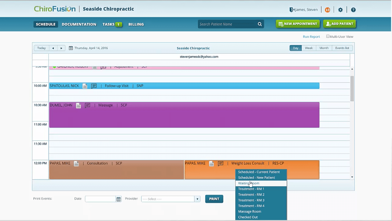 ChiroFusion Scheduler