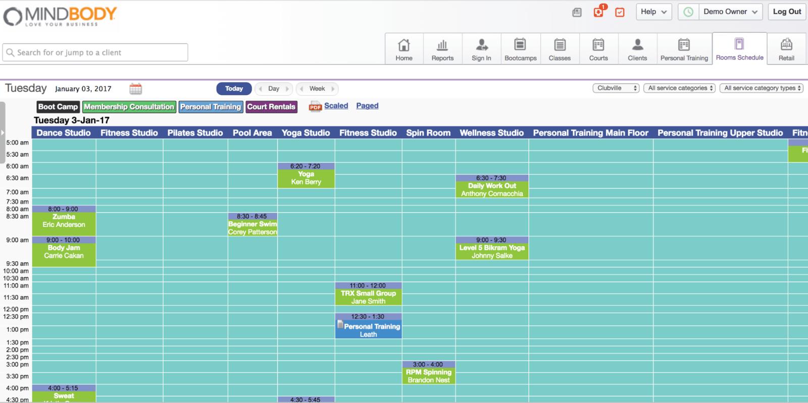 MINDBODY Scheduler